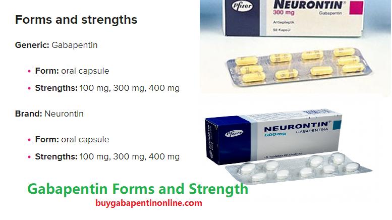 Gabapentin Dosage Forms